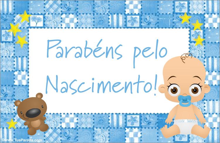 Cartão - Cartão do nascimento de um filho
