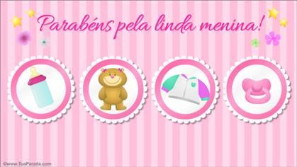 Cartão - Parabéns pela bebê!