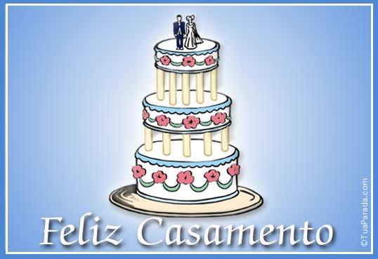 Cartão - Feliz Casamento