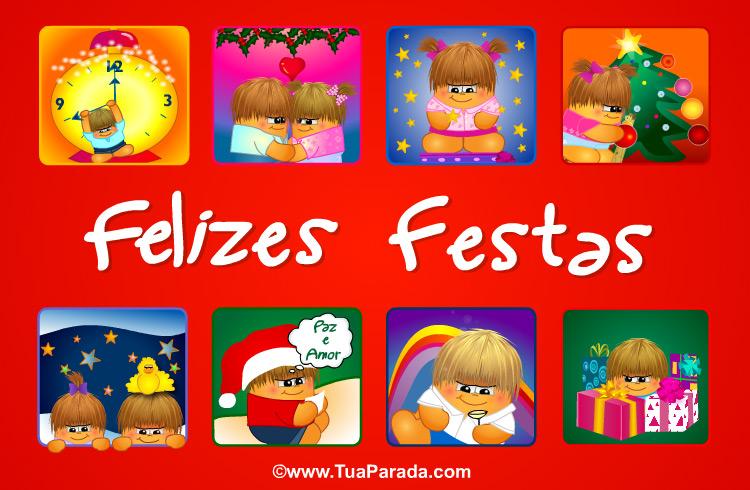 Cartão - Felizes Festas