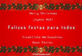 Felizes Festas para todos