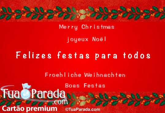 Cartão - Felizes Festas para todos