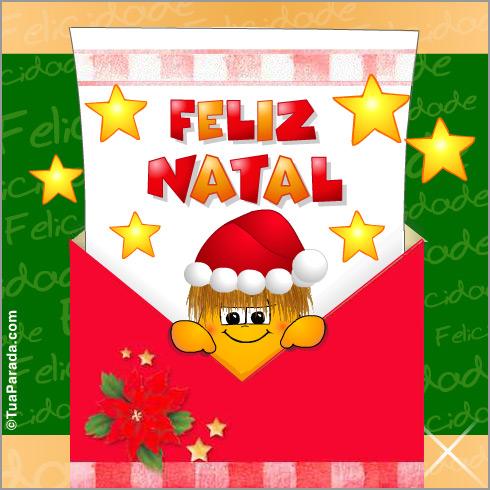 Cartão - Cartão de feliz Natal