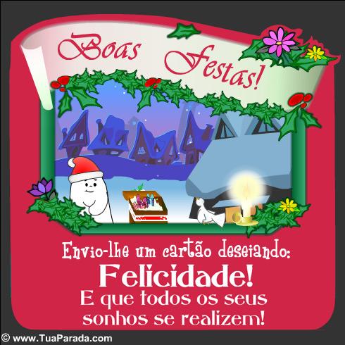 Cartão - Boas festas!
