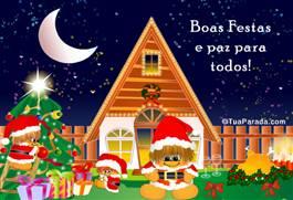 Cartão: Boas Festas