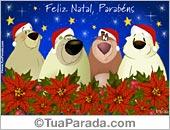Cartões de Natal com ursos