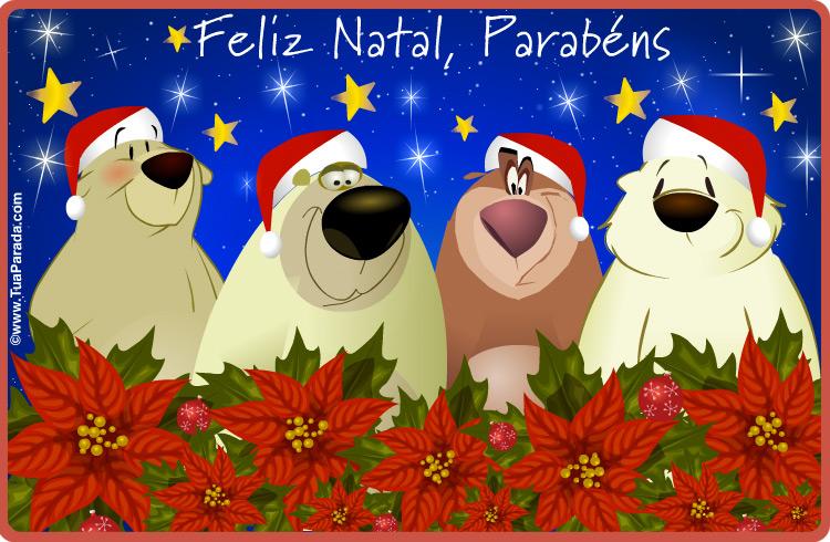 Cartão - Cartões de Natal com ursos