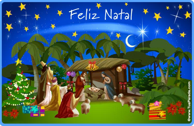 Cartão Feliz Natal Natal Catões