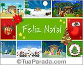 Feliz Natal com pequenas imagens