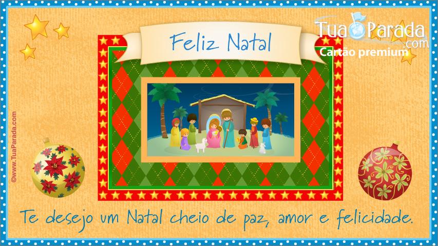 Cartão - Cartão de presépio de Natal