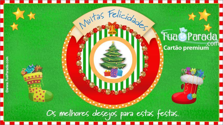 Cartão - Desejos para estas fiestas