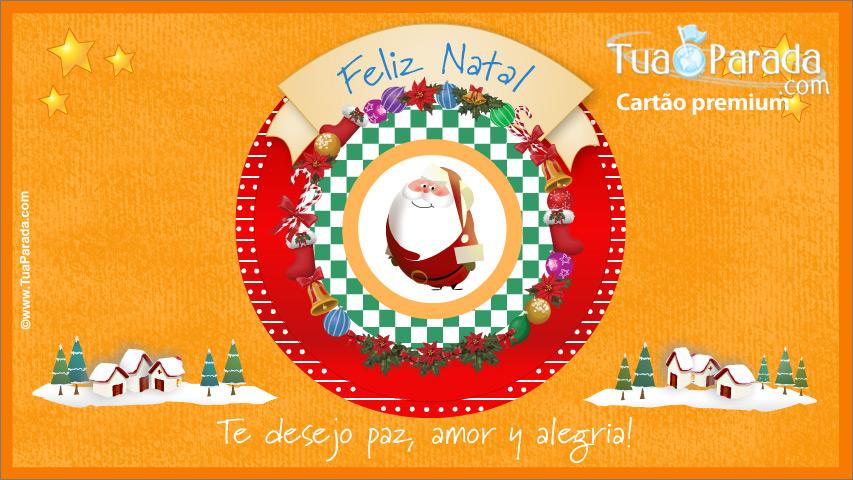 Cartão - Cartão de Natal com Papai Noel
