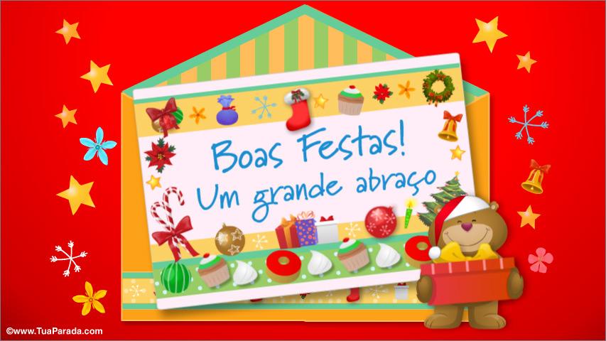 Cartão - Cartão de surpresa de Natal