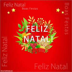 Cartão de natal com flores