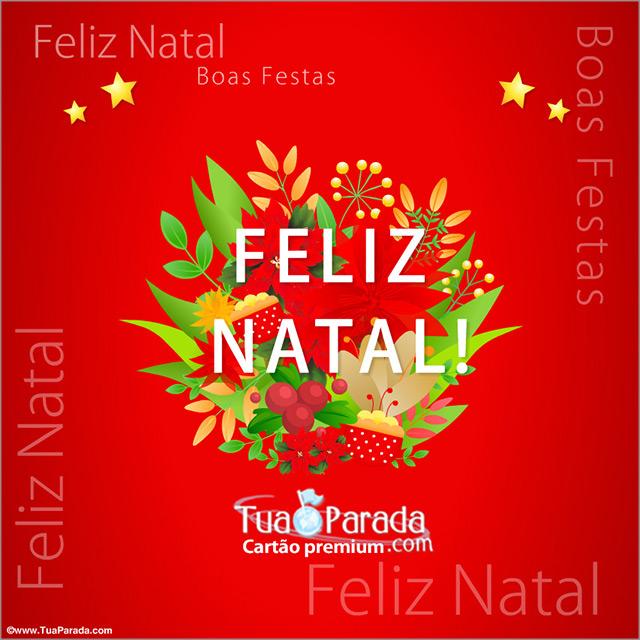Cartão - Cartão de natal com flores