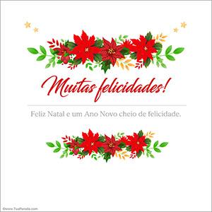 Cartão de parabéns para o Natal