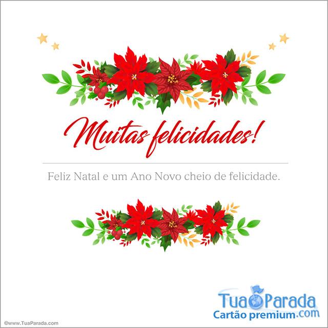 Cartão - Cartão de parabéns para o Natal