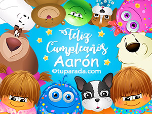 Feliz cumpleaños Aarón