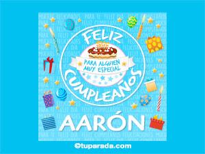 Tarjeta de cumpleaños Aarón