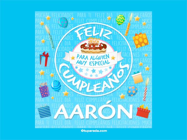 Tarjeta De Cumpleaños Aarón Aarón Tarjetas