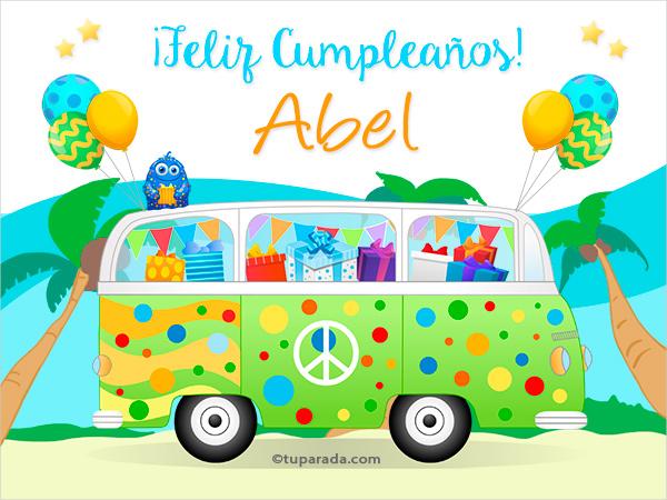 Tarjetas De Cumpleanos Con Nombre Abel Postales Cumpleanos Abel