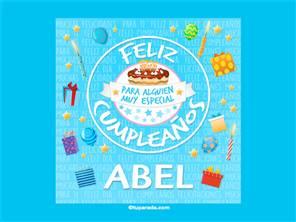 Tarjeta de cumpleaños Abel