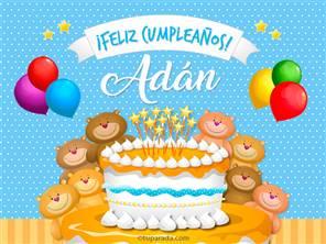 Tarjetas, postales: Adán