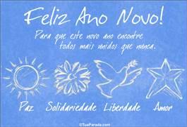Cartão: Feliz ano novo