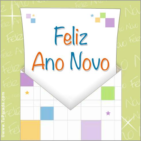 Cartão - Cartão Feliz ano novo