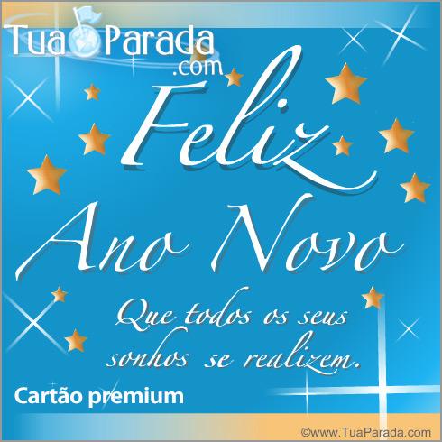 Cartão - Cartão de feliz ano novo