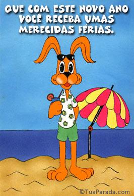 Cartão - Umas merecidas férias