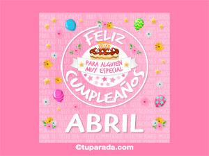 Tarjeta de cumpleaños Abril