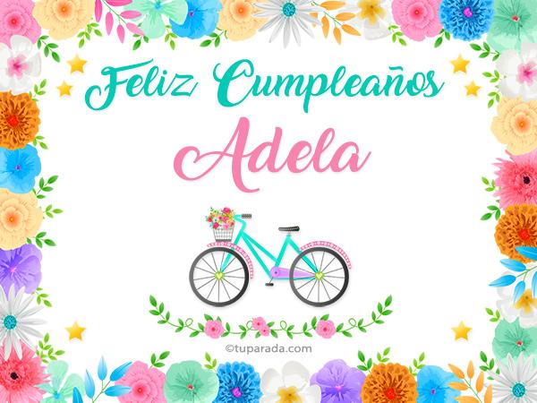 Tarjetas de  Adela