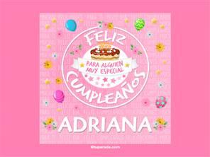 Tarjeta de cumpleaños Adriana