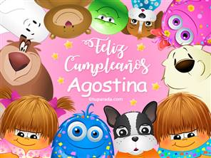 Feliz cumpleaños Agostina