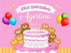 Cumpleaños de Agostina