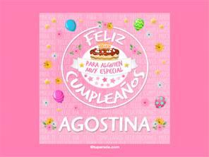 Tarjeta de cumpleaños Agostina