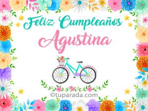 Tarjetas de  Agustina