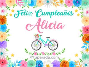 Tarjetas de  Alicia