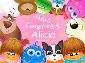 Feliz cumpleaños Alicia