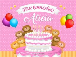 Cumpleaños de Alicia