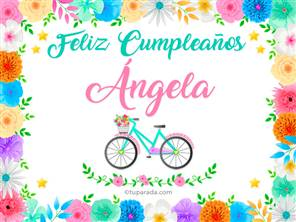 Tarjetas, postales: Ángela