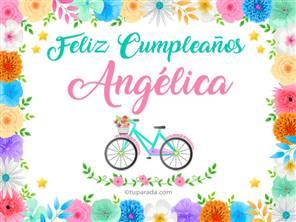 Tarjetas, postales: Angélica