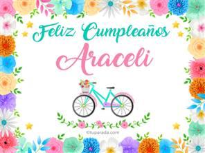 Tarjetas, postales: Araceli