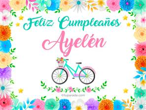 Tarjetas, postales: Ayelén