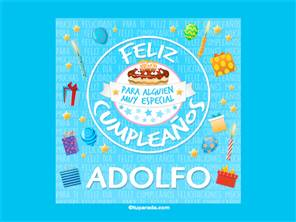 Tarjeta de cumpleaños Adolfo