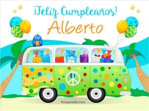 Tarjetas, postales: Alberto