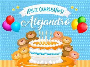 Tarjetas, postales: Alejandro
