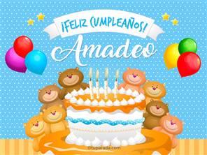 Tarjetas, postales: Amadeo