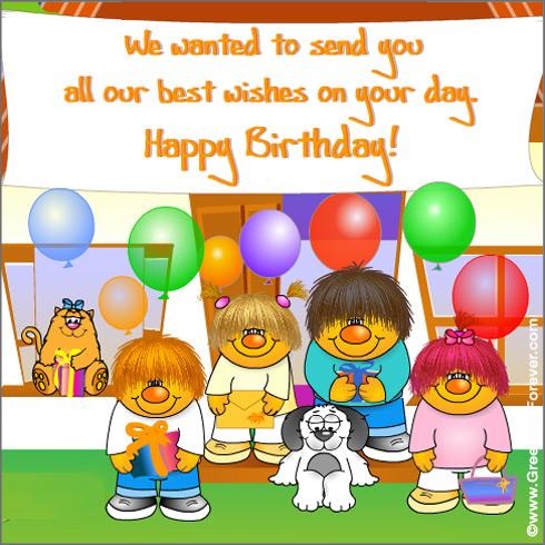 Ecard - Happy Birthday greeting card